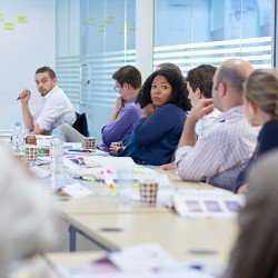 Classroom discussion in a London project management workshop - Thumbnail
