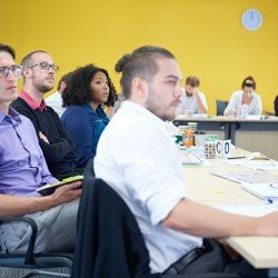 A class of project management delegates looking attentive - Thumbnail